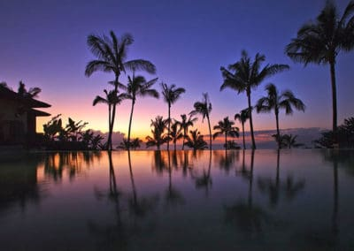Sunset View from the Lanikeha Clubhouse Infinity Edge Pool